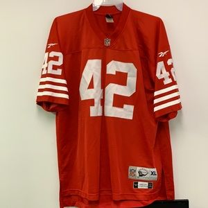 Ronnie Lott Throwback 49ers NFL Reebok Sewn Jersey